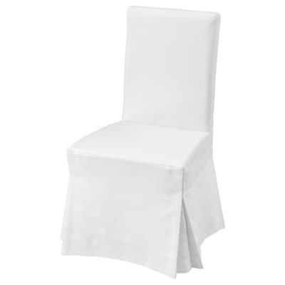 HENRIKSDAL كرسي مع غطاء طويل, بني غامق/Blekinge أبيض
