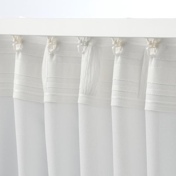 HILJA ستائر، 1 زوج, أبيض, 145x300 سم