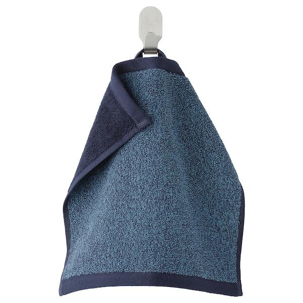 HIMLEÅN Washcloth, dark blue/mélange, 30x30 cm