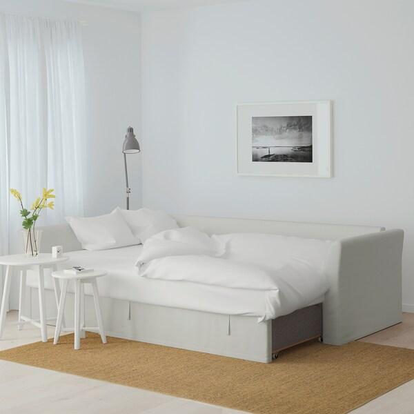 HOLMSUND corner sofa-bed Orrsta light white-grey 96 cm 66 cm 151 cm 230 cm 90 cm 120 cm 60 cm 44 cm 140 cm 204 cm