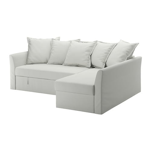 HOLMSUND Corner sofa bed Orrsta light white grey IKEA