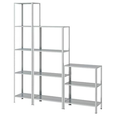 HYLLIS Shelving unit in/outdoor, 160x27x74-183 cm