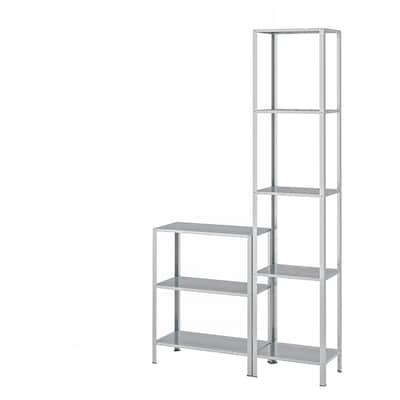 HYLLIS Shelving unit in/outdoor, 100x27x74-183 cm