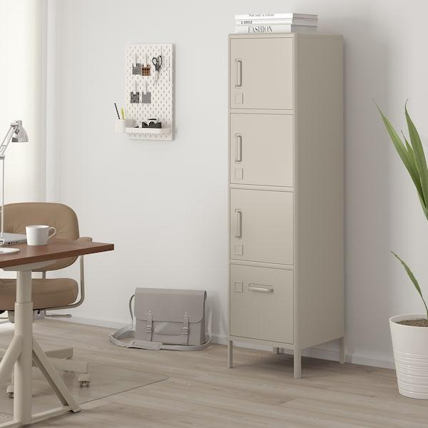 IDÅSEN high cabinet with drawer and doors beige 45 cm 47 cm 172 cm