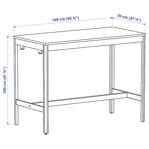 IDÅSEN طاولة, بني/بيج, 140x70x105 سم