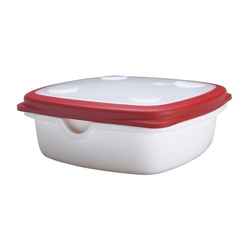 IKEA 365+ Food container   Vent in the lid and rounded corners to ensure effective and even warming in the microwave.