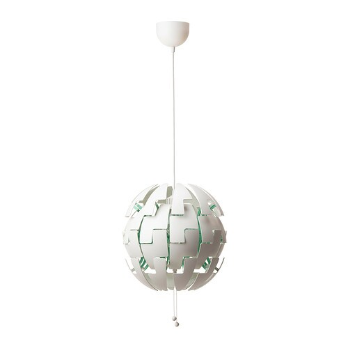 IKEA PS 2014 Pendant lamp   You can easily switch between a brighter general light and a softer mood light by just pulling the strings.