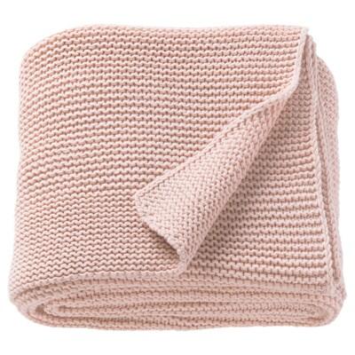 INGABRITTA Throw, pale pink, 130x170 cm
