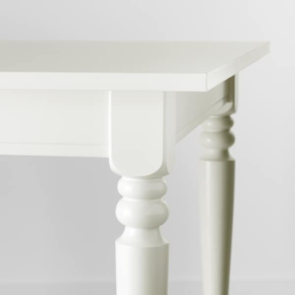 INGATORP / INGOLF طاولة و 6 كراسي, أبيض/Nordvalla بيج, 155/215 سم