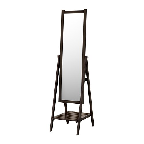 ISFJORDEN Standing mirror   Provided with safety film - reduces damage if glass is broken.