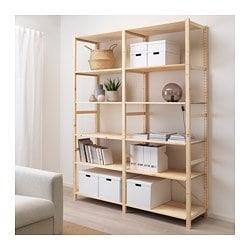 Stellingkast Wit Hout.Ivar Cabinet Ikea