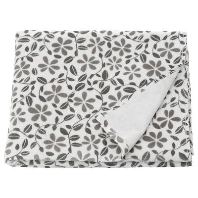 JUVELBLOMMA Bath towel, white/grey, 70x140 cm