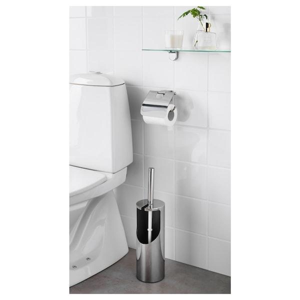 KALKGRUND Toilet brush/holder, chrome-plated