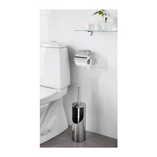 KALKGRUND Toilet brush/holder   Easy to keep clean, thanks to the fingerprint-proof surface.