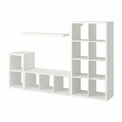 KALLAX / LACK تشكيلة تخزين مع رف, أبيض, 231x39x147 سم