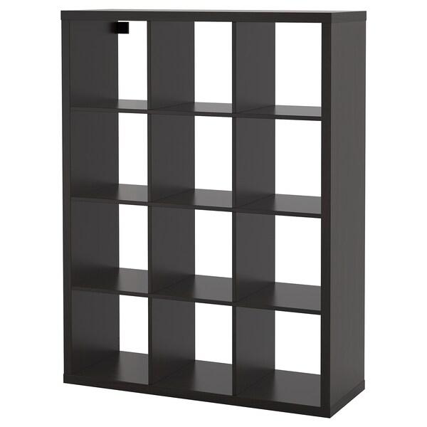 Kallax Shelving Unit Black Brown Ikea