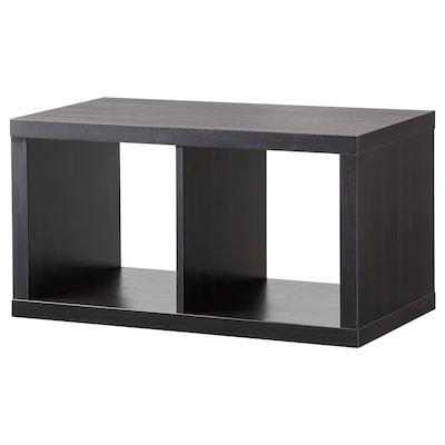 KALLAX وحدة أرفف, أسود-بني, 77x42 سم