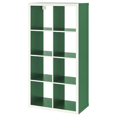 KALLAX وحدة أرفف, أبيض/أخضر, 77x147 سم