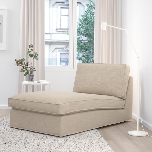 KIVIK Chaise longue, Hillared beige