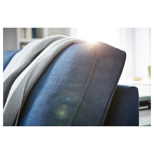 KIVIK كنبة زاوية، 5 مقاعد, مع أريكة طويلة/Hillared أزرق غامق