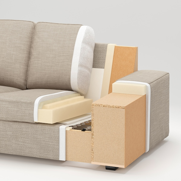 KIVIK كنبة زاوية، 5 مقاعد, مع أريكة طويلة/Skiftebo رمادي غامق
