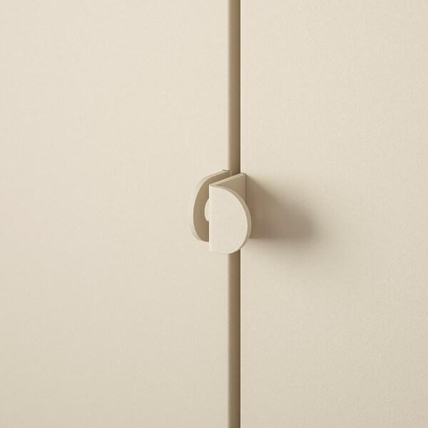 KOLBJÖRN خزانة للداخل/للخارج, بيج, 90x161 سم