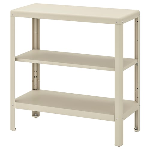 KOLBJÖRN shelving unit in/outdoor beige 80 cm 35 cm 81 cm 25 kg