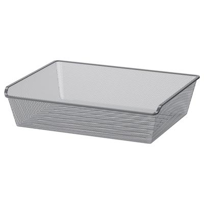 KOMPLEMENT Mesh basket, dark grey, 75x58 cm