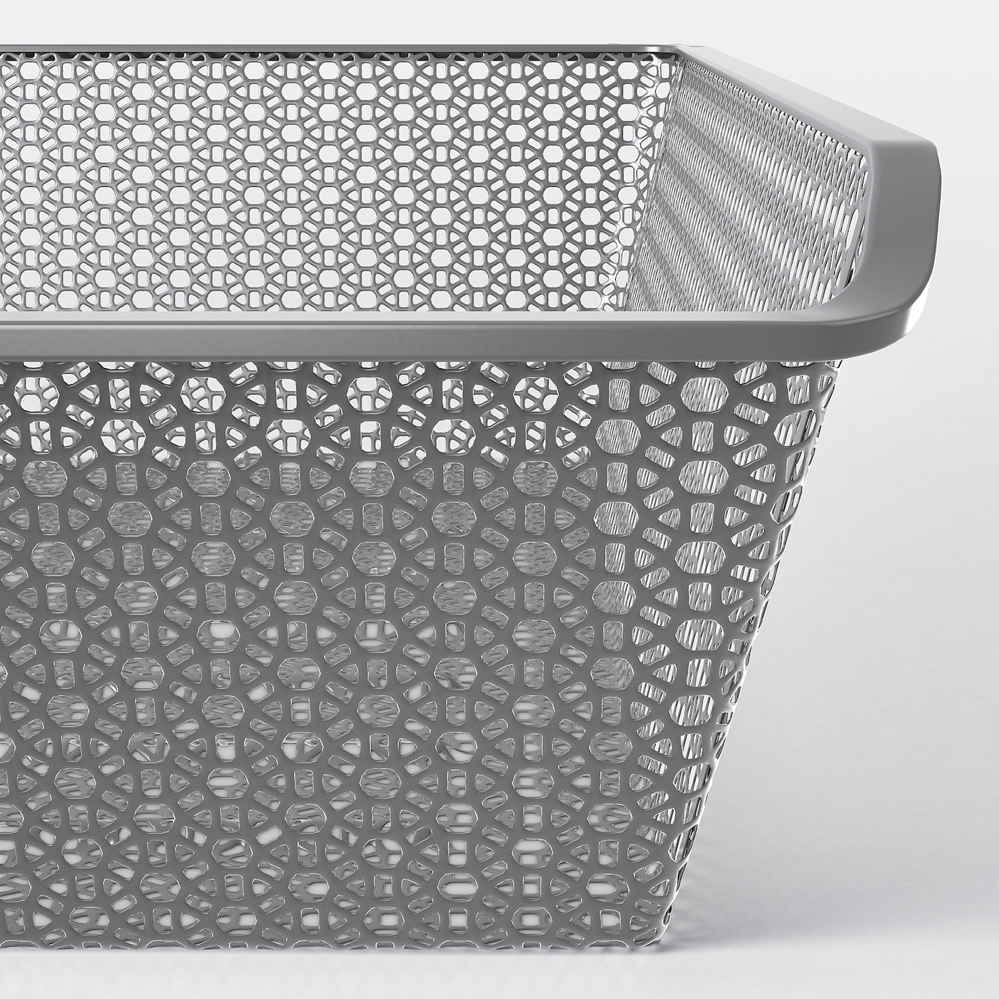 KOMPLEMENT Metal basket with pull-out rail, dark grey, 50x58 cm