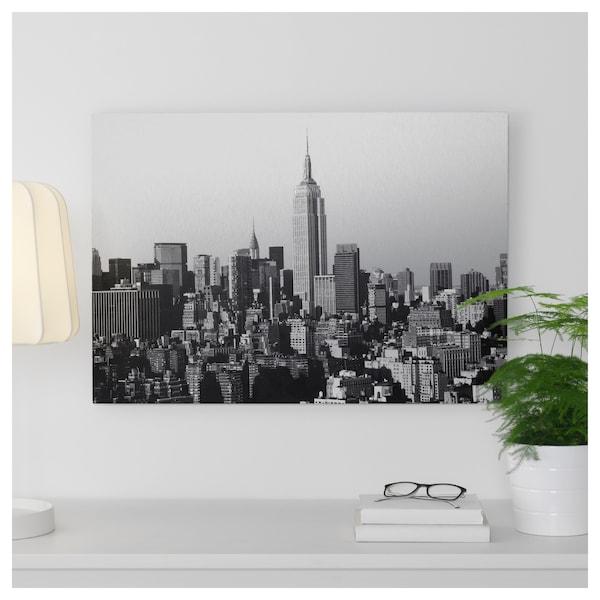 KOPPARFALL Picture, city skyline, 70x49 cm