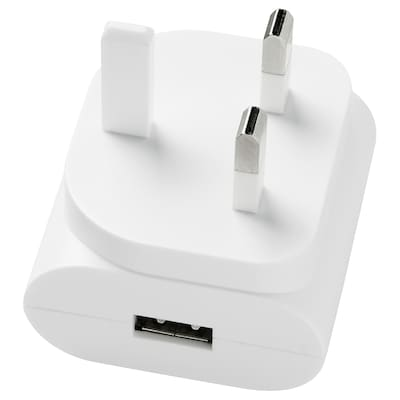 KOPPLA 1-port USB charger, white