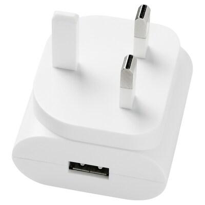 KOPPLA 1-port USB charger, white