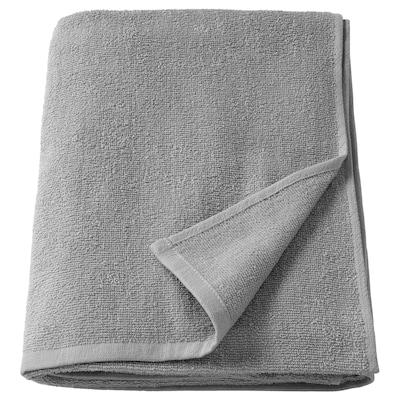 KORNAN Bath sheet, grey, 100x150 cm