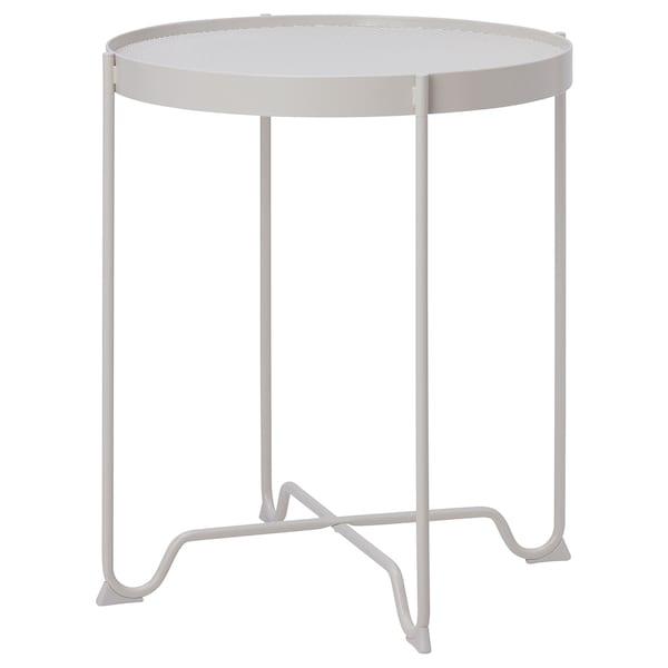 KROKHOLMEN Side table, outdoor, beige, 50 cm