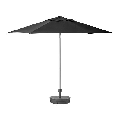 With BaseBlackGrytö Lindöja Dark Grey Kuggö Parasol LMqSUzpjGV