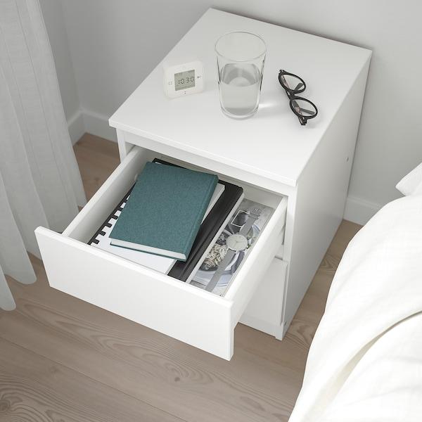 KULLEN خزانة بـدرجين, أبيض, 35x49 سم