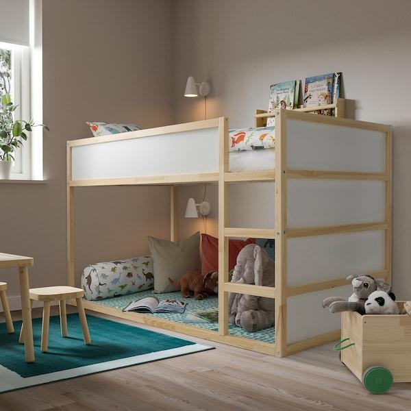 KURA سرير قابل للعكس, أبيض/صنوبر, 90x200 سم