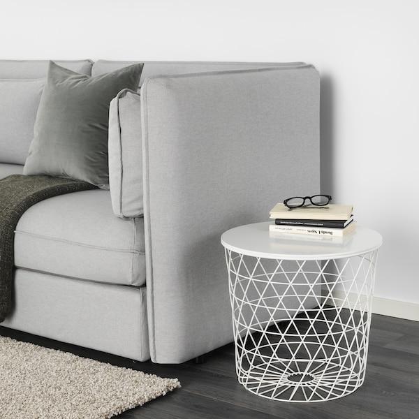 KVISTBRO طاولة بتخزين, أبيض, 44 سم