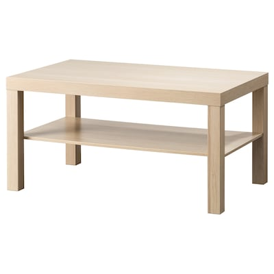 LACK Coffee table, white stained oak effect, 90x55 cm