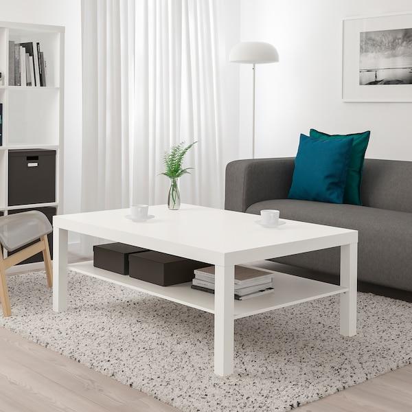 LACK طاولة قهوة, أبيض, 118x78 سم
