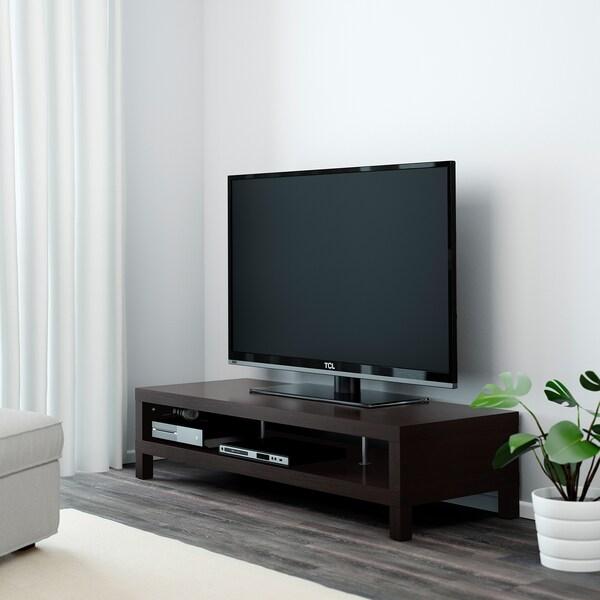 LACK طاولة تلفزيون, أسود-بني, 149x55x35 سم