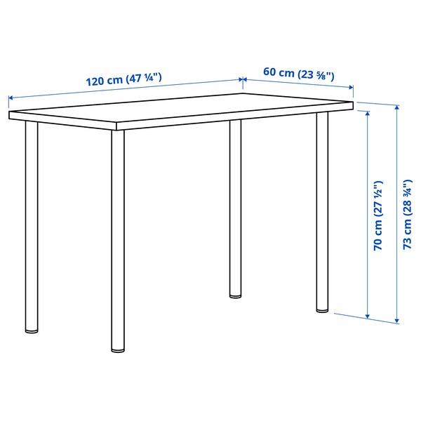 LAGKAPTEN / ADILS Desk, light blue/white, 120x60 cm