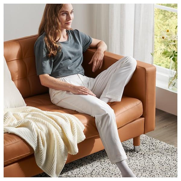 LANDSKRONA 3-seat sofa, Grann/Bomstad golden-brown/metal