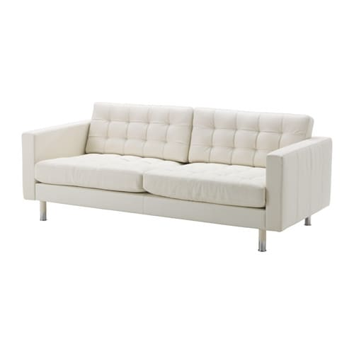 LANDSKRONA Three Seat Sofa   Grann/Bomstad White, Wood   IKEA