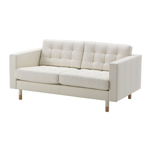 Landskrona Two Seat Sofa Grann Bomstad White Wood Ikea