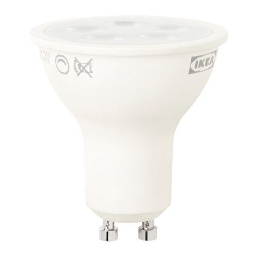 LEDARE LED bulb GU10 400 lumen IKEA The LED light source consumes up to 85%