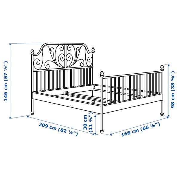 LEIRVIK هيكل سرير, أبيض/Lonset, 160x200 سم