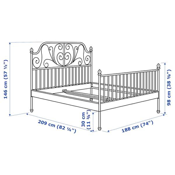 LEIRVIK هيكل سرير, أبيض/Luroy, 180x200 سم