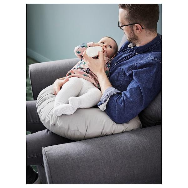 LEN Nursing pillow, grey, 60x50x18 cm