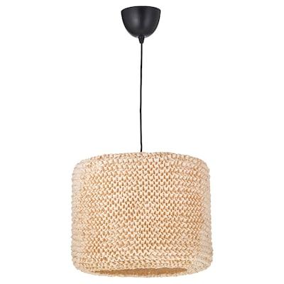 LERGRYN / SUNNEBY Pendant lamp, beige/black